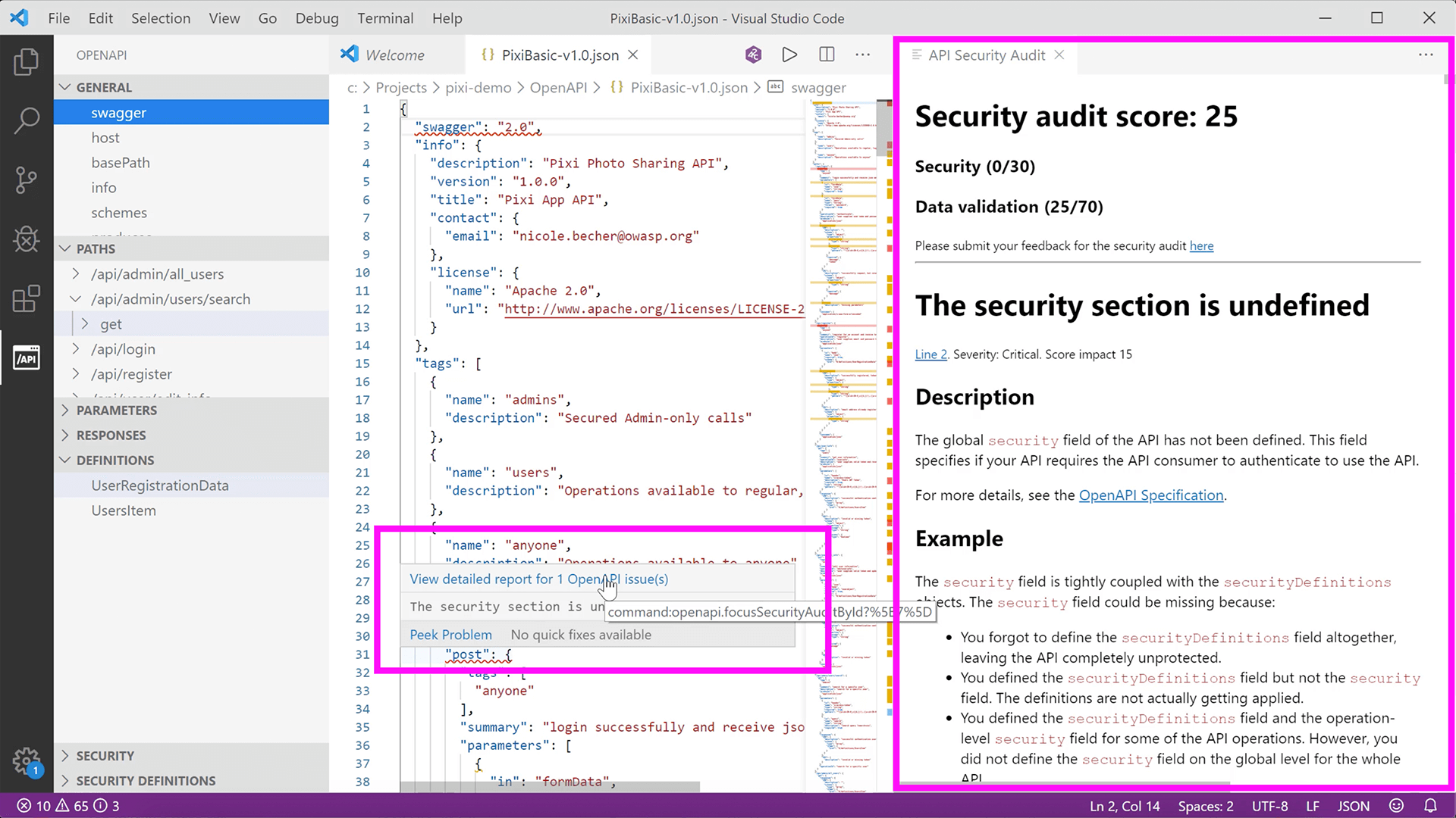 vs code audit